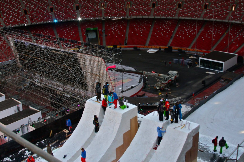 The Aerials jumps are prepared in the Bird's Nest Beijing for the upcoming World Cup  (3)