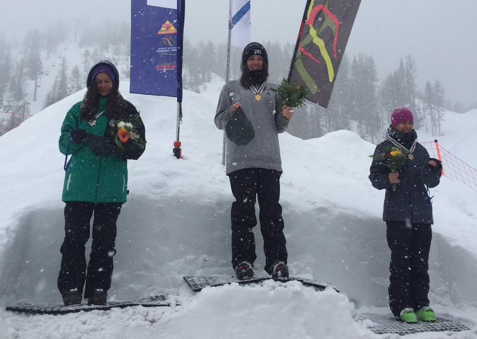 Molly Summerhayes on top of the podium at the World Junior World Champs (3)