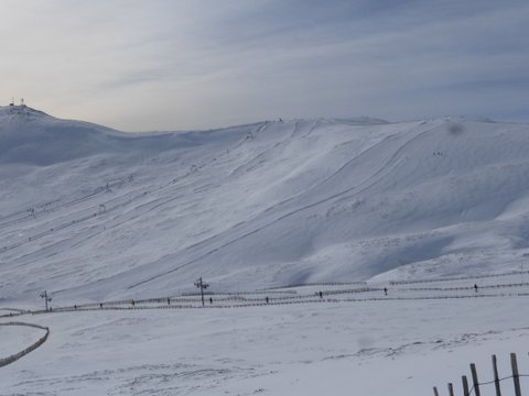 The race piste at Glenshee, Thursday 3rd March