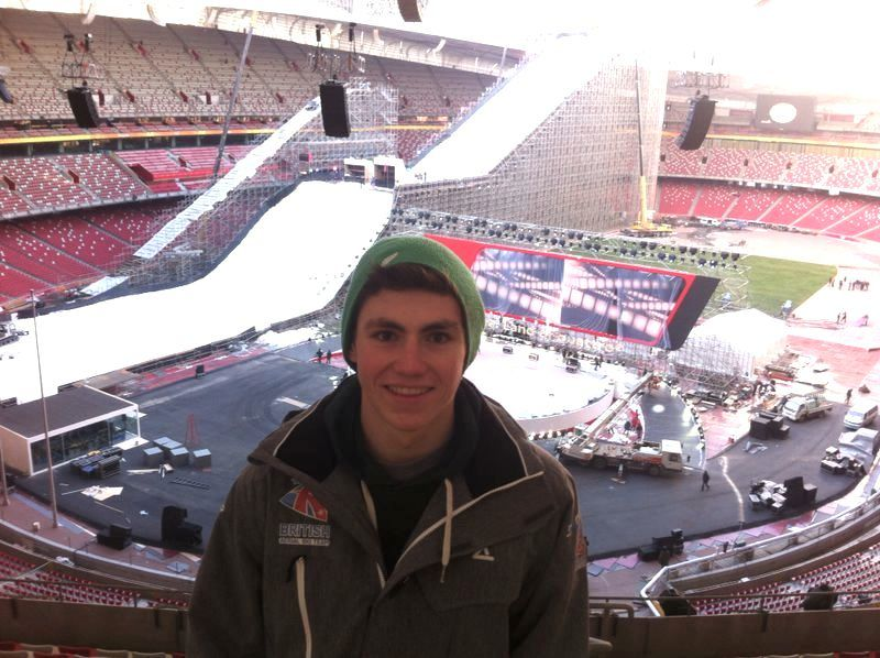 GB Aerials skier Lloyd Wallce inside Beijing Bird's Nest copy (3)