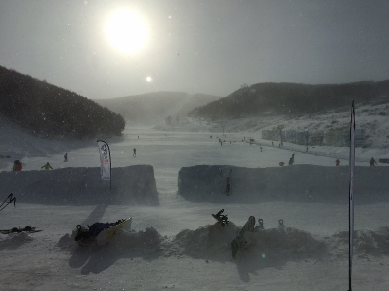Bitterly Mongolian winds clear the slopes of Duolomidi on Wednesday